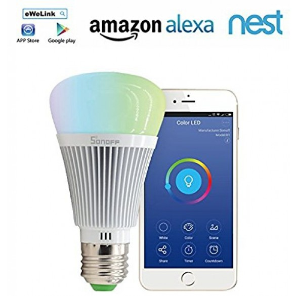 Luce Lampadina Wifi Smart Home Sonoff B1 LED RGB Wi-Fi