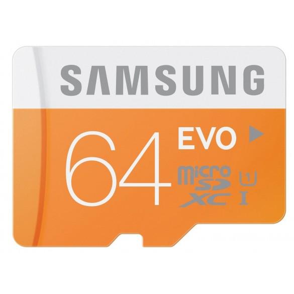 Memoria MicroSD 64GB Samsung MB-MP64D/EU Scheda Micro SD HC EVO