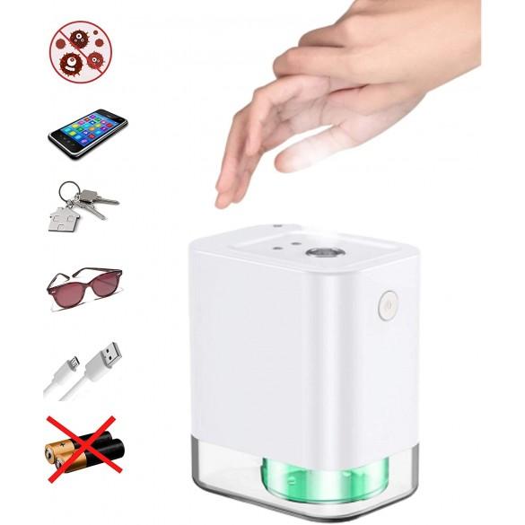 [NUOVO DESIGN / IDEALE PER CASA E LOCALI] Dispenser Nebulizzatore Alcool smart auto con sensore touchless disinfettante per le mani dispenser automatico di alcol dispenser Bianco