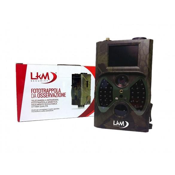 Telecamera Infrarossi Fototrappola GPRS GSM MMS 16MP LKM Security®  LKM-FTT01