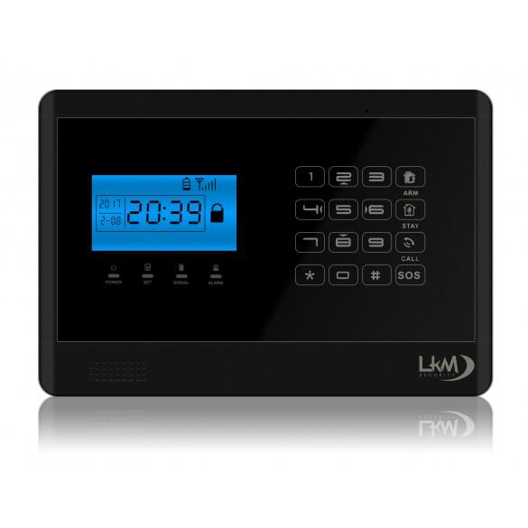 Allarme Casa LKM Security Antifurto Wireless Senza Fili. Menù e Sintesi Vocale in Italiano Colore NERO