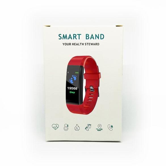 SmartWatch Bluetooth cardiofrequenzimetro LKM Security Rosso LKM-OSG115RD