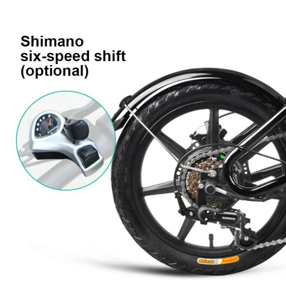 [FATTURA ITALIANA / BONUS] FIIDO D2S Bicicletta Elettrica Pieghevole con 250W Motore velocità Massima 25KM/H E-Bike Bianco7.8Ah