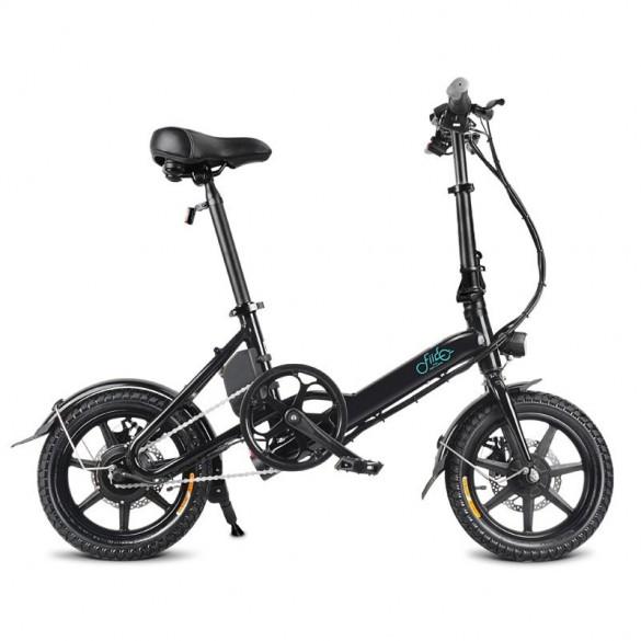 [FATTURA ITALIANA / BONUS] FIIDO D3 Bicicletta Elettrica Pieghevole con 250W Motore velocità Massima 25KM/H E-Bike Nero 7.8Ah