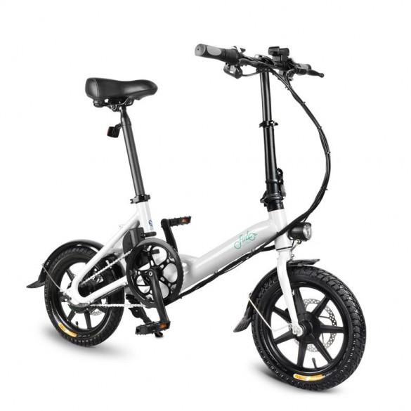 [FATTURA ITALIANA / BONUS] FIIDO D3 Bicicletta Elettrica Pieghevole con 250W Motore velocità Massima 25KM/H E-Bike Bianco 7.8Ah