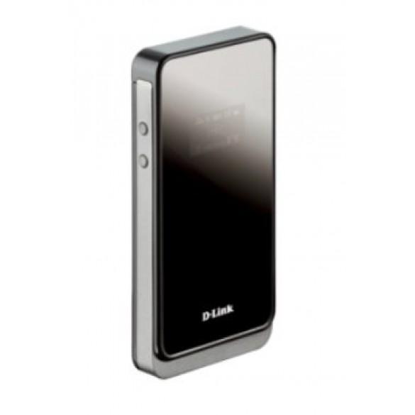 D-Link DWR-730 Router Portatile 3G, Batteria Ricaricabile da 2000 mAh, Modem HSPA+ Integrato fino a 21.6 Mbps, Nero/Antracite