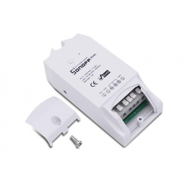 Attuatore 2 canali Smart Home Sonoff Dual Wi-Fi Smart Switch per Smart Home