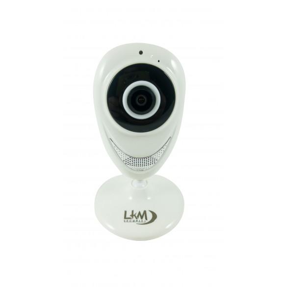 Telecamera Fisheye panoramica in HD 2 Megapixel e Wi-Fi 2.4 Ghz Colore Bianco