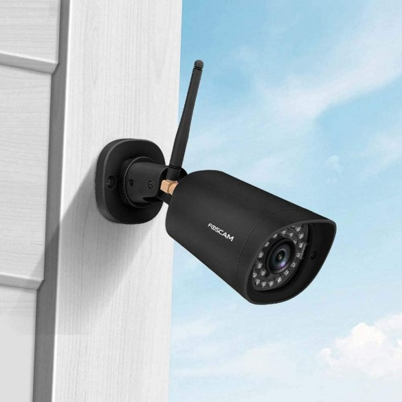 Foscam FI9902P 2 Megapixel Full HD1080P H.264 Wireless/Cavo con Visione Notturna 20 Metri Compatibile con Alexa Colore NERO