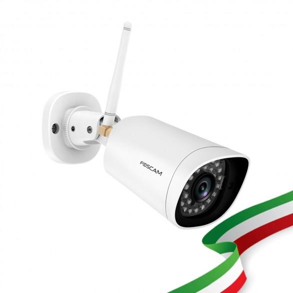 Foscam G4P 4 Megapixel  2K H.264 Wireles/Cavo con visione notturna 20 Metri Compatibile con Alexa