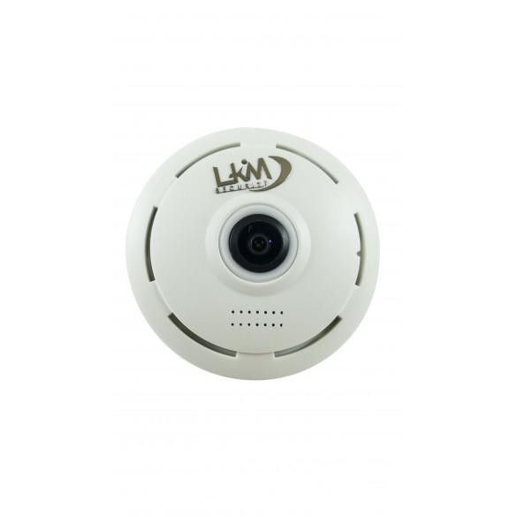 Telecamera panoramica Fisheye 360 LKM Security wifi da interno a soffitto colore Bianco