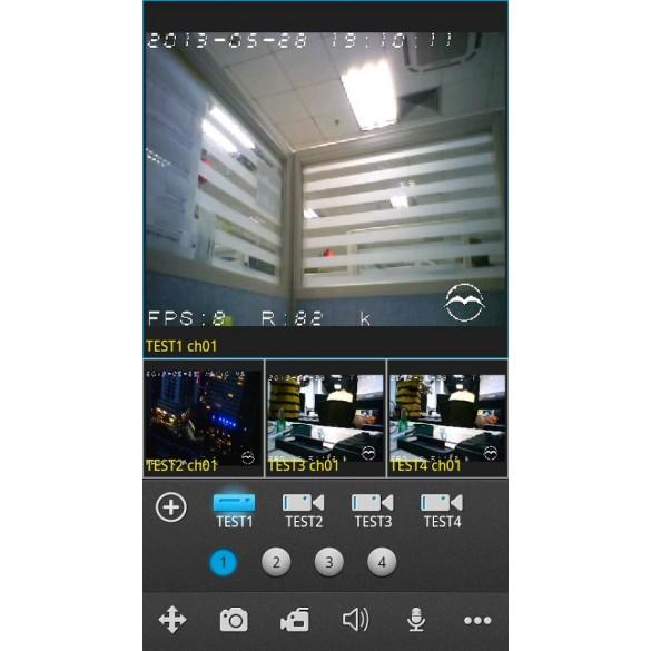 LKM Security mini Registratore NVR 8 canali per telecamere ed impianti IP ad alta risoluzione colore nero - HD Foscam onvif compatibile