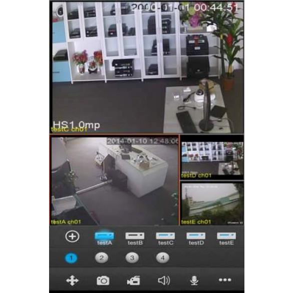 LKM® Registratore NVR 8 canali per telecamere ed impianti IP ad alta risoluzione colore nero - HD Foscam onvif compatibile