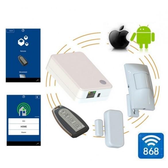 Antifurto casa negozio LKM AX-780 P2P  WiFi sensori  wireless 868Mhz gestibile da smartphone