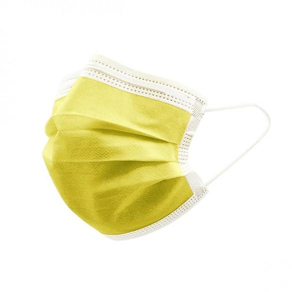 mascherina monouso gialla