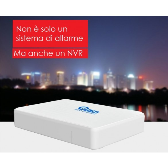 Kit iHome NVR e allarme in un unico dispositivo con telecamera IP Wireless