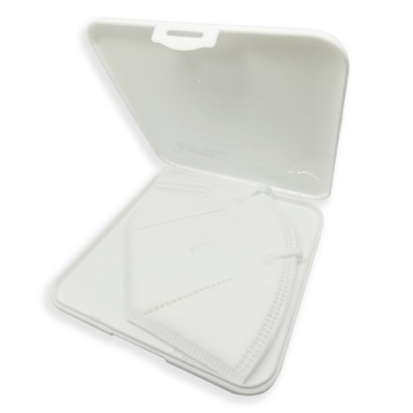 [IGIENICO] Contenitore porta mascherina portatile antibatterico tascabile ion AG+ agli ioni d'argento - Custodia mascherina - Scatola porta mascherina colore bianco - Organizer per mascherine antivirus - antipolvere - antimuffa