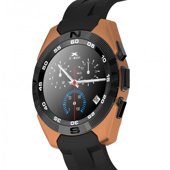 Smartwatch Bluetooth LKM Security con funzione cardiofrequenzimetro contapassi Colore ORO
