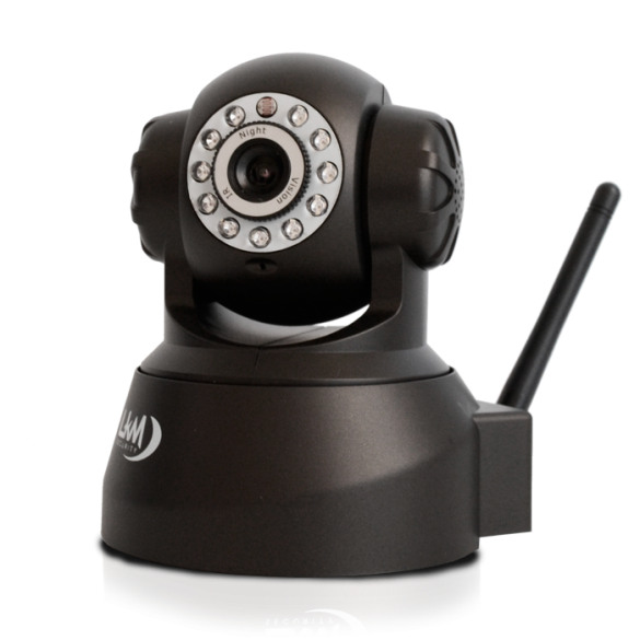 Telecamera LKM Security Wifi IP Wireless Camera Videosorveglianza  Motorizzata Pan Tilt Interno colore Nero Connettore I/O P2P QRCode