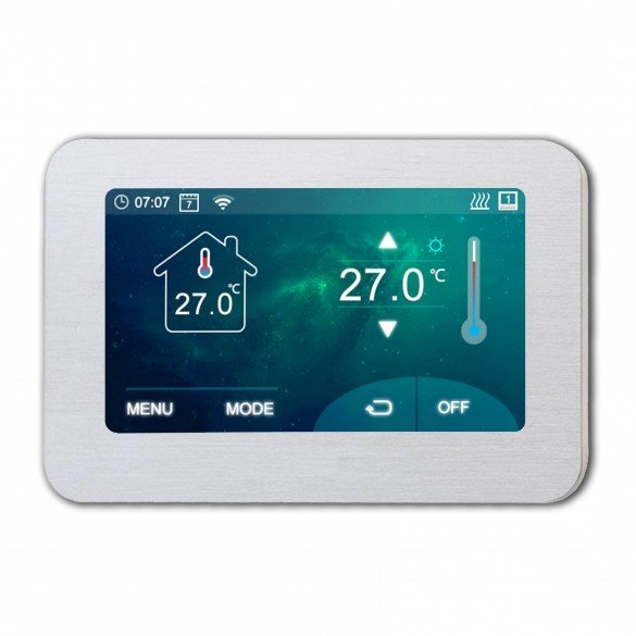 Termostato Wifi Touchscreen wireless per casa e ufficio con display da 4.3