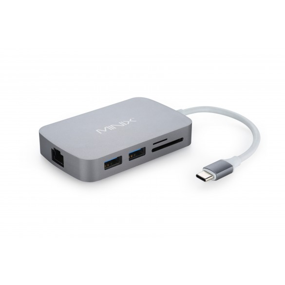 Adattatore USB-C con uscita HDMI e lettore Card Minix