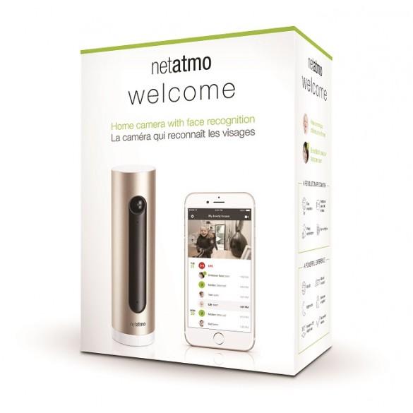 Telecamera di Videosorveglianza Netatmo Welcome da interno Wifi con sistema di registrazione integrato su MicroSD 4 GB