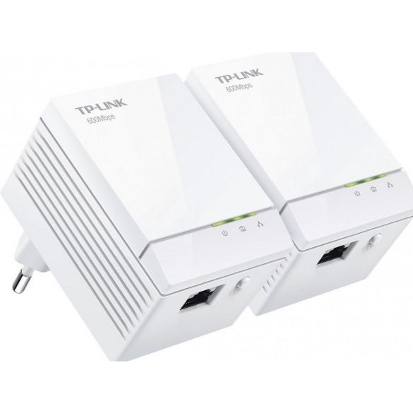 TP-LINK TL-PA6010KIT Starter Kit con Adattatore Powerline AV600, 1 Porta Gigabit Ethernet, Bianco