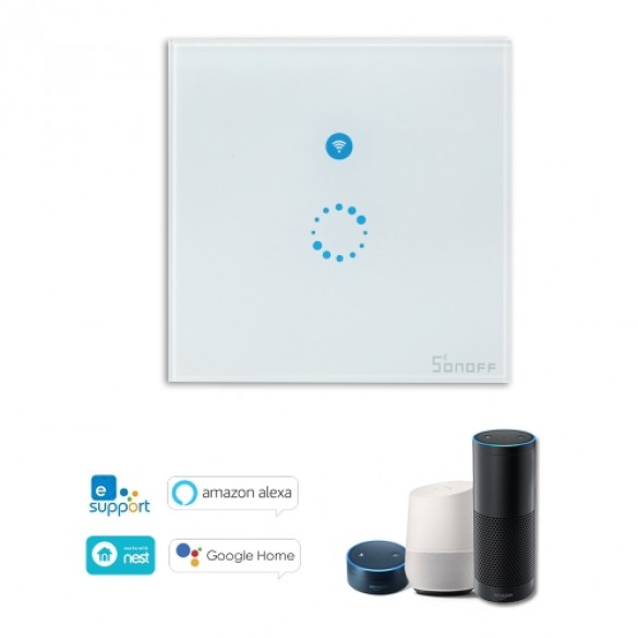 Interruttore Smart Home Sonoff Touch Panel Wi-Fi Smart Switch a muro