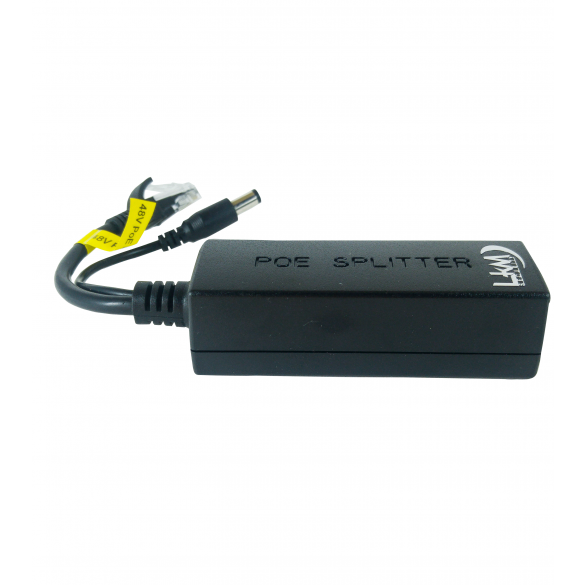POE SPLITTER LKM Security 12W COMPATIBILE CON IEEE802.3i/3x/af 100 METRI
