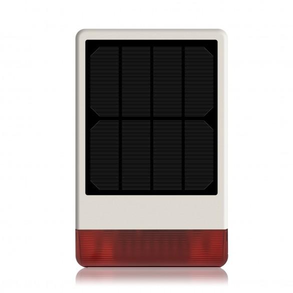 KIT Solar PLUS ANTIFURTO ALLARME CASA KIT GSM WIRELESS SENZA FILI CON SIRENA SOLARE WIRELESS AD ENERGIA SOLARE CONTROLLABILE DA CELLULARE CON APPOSITA Colore Bianco