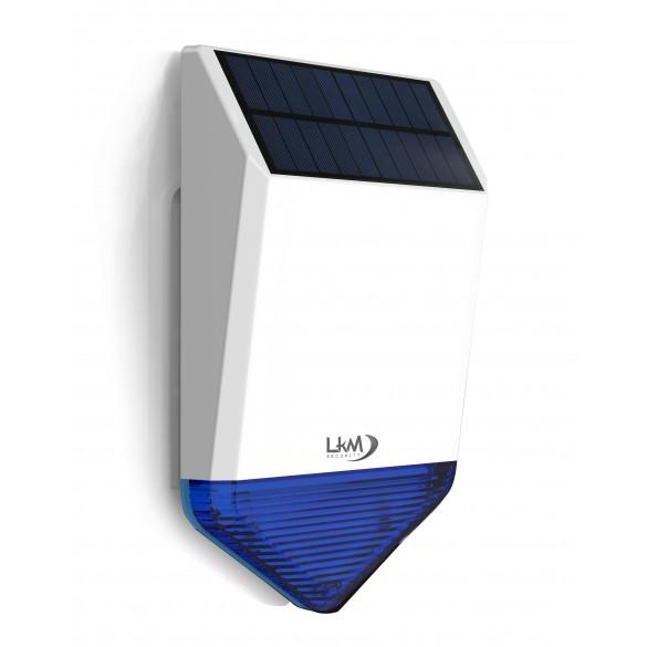 Sirena Wireless a 433 Mhz con pannello Solare a tenuta stagna compatibile con la centralina ANTK7
