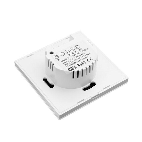 Interruttore Smart Home Sonoff a 2 posizioni Touch Panel Wi-Fi telecomando 433Mhz Smart Switch a muro Bianco