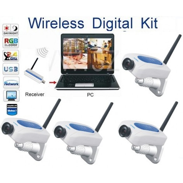 Kit Telecamera wireless Analogica WD213DE4 da interno