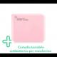 [IGIENICO] Contenitore porta mascherina portatile antibatterico tascabile ion AG+ agli ioni d'argento - Custodia mascherina - Scatola porta mascherina colore rosa- Organizer per mascherine antivirus - antipolvere - antimuffa