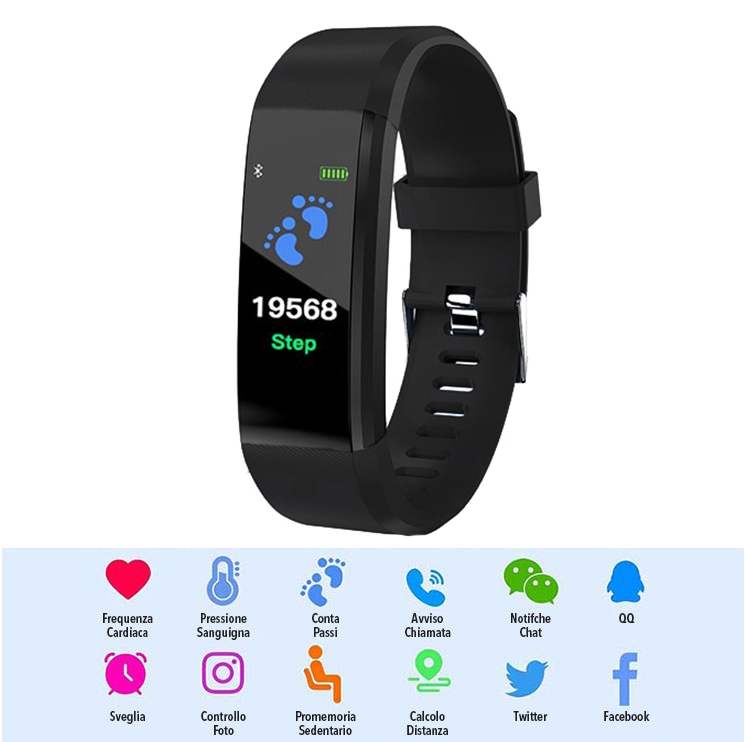 Smart Watch LKM Security nero