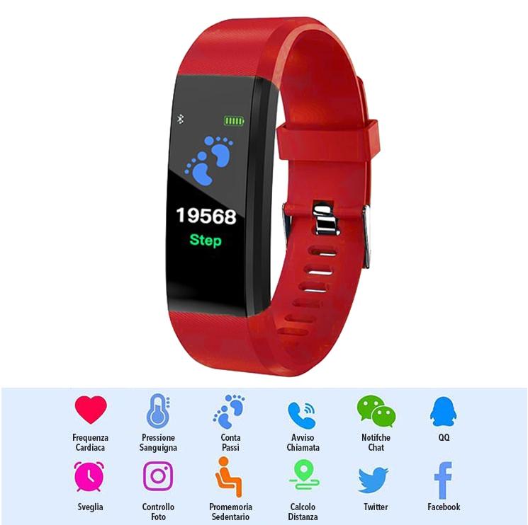Smart Watch LKM security rosso