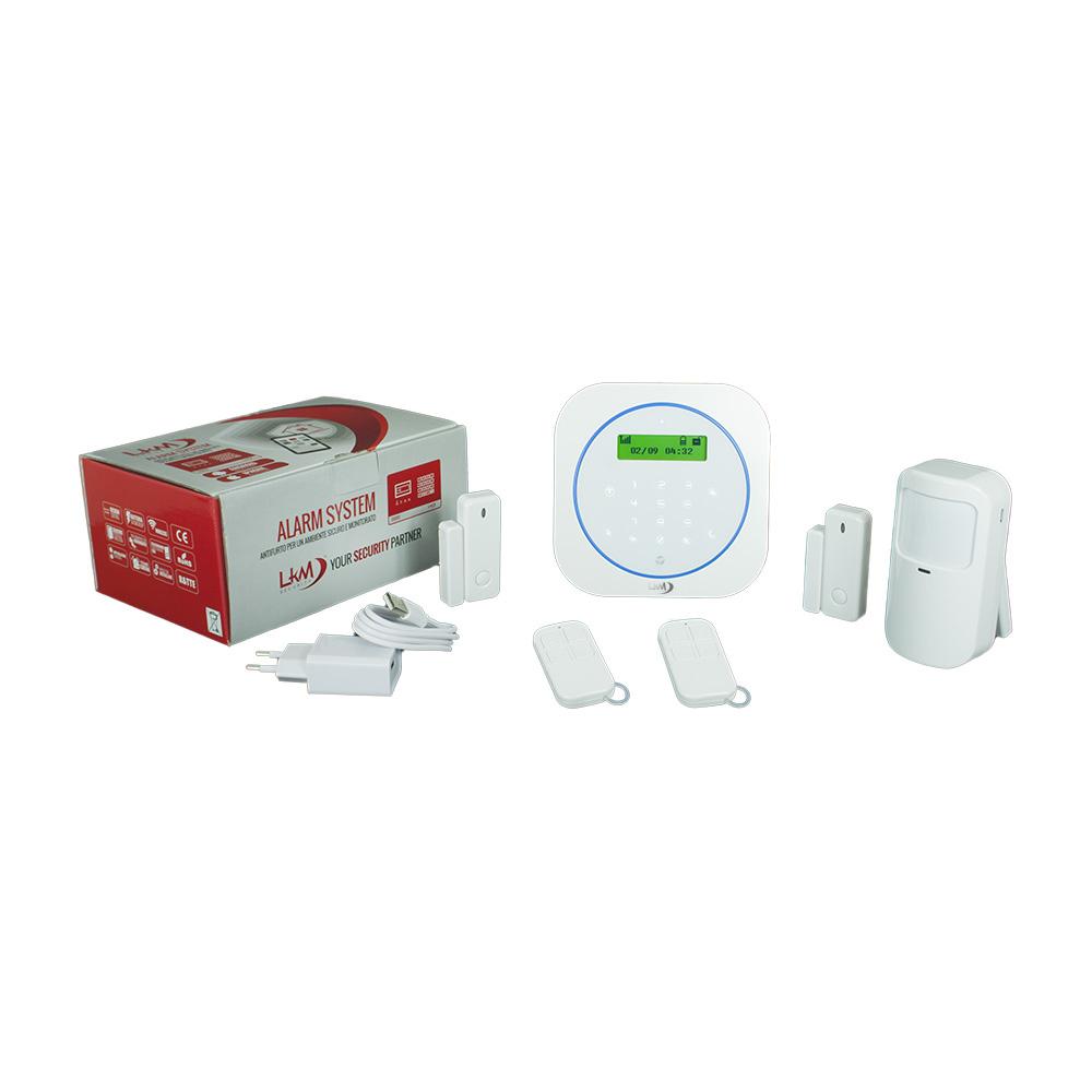 Antifurto Allarme Casa C5 LKM Security Kit Wireless Senza Fili Controllabile da Cellulare con App Gratuita. Menù in italiano e Manuale in Italiano