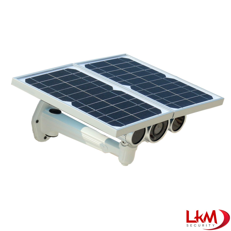 Pannello Solare Per Alimentare Telecamera : Telecamera ip wireless lkm security con pannello solare e