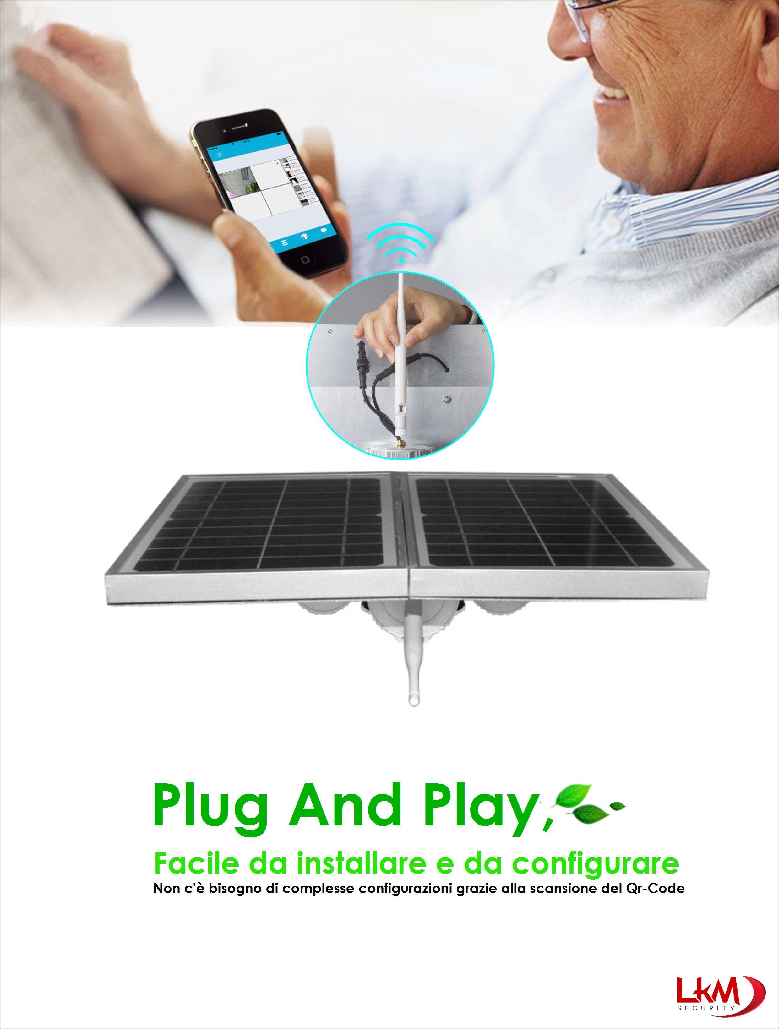 Pannello Solare Per Telecamera : Telecamera ip wireless lkm security con pannello solare e