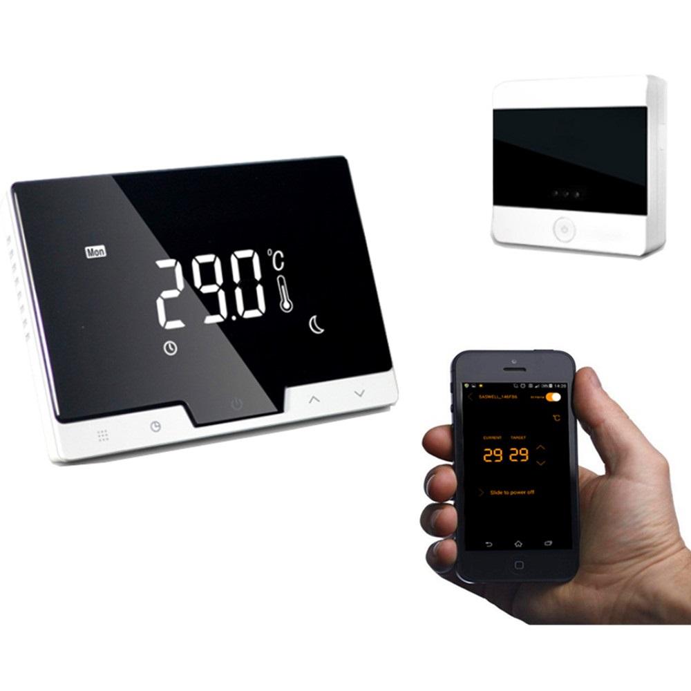 Termostato wi fi con display lcd e ricevitore wireless for Termostato caldera wifi