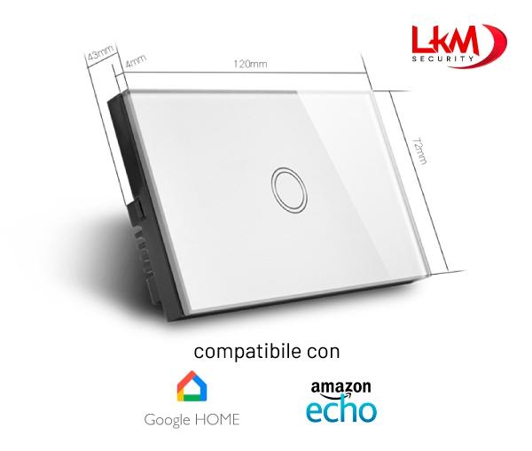interruttore luci Smart Home WiFi - dimensioni