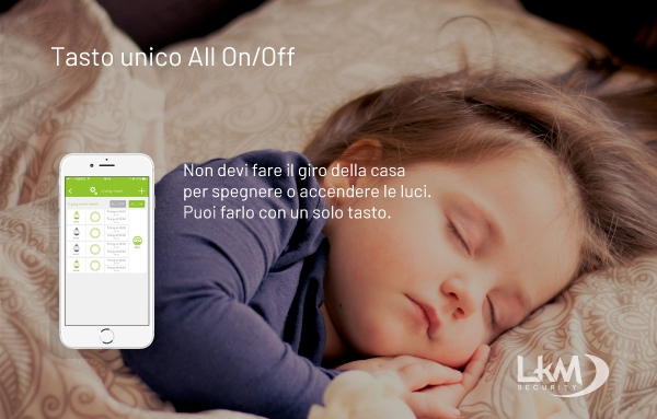 interruttore luci Smart Home WiFi - tasto on all/on off