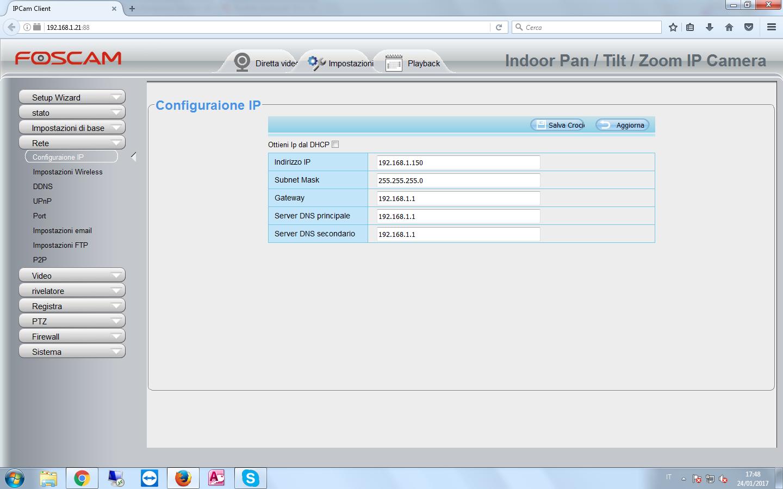 Configurazione IP
