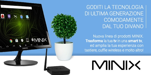 Mini PC Minix Lookathome smart tv internet televisione