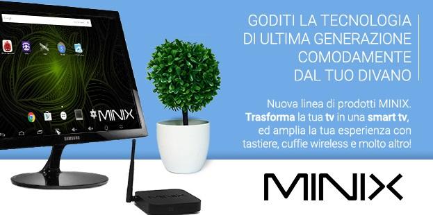 Mini PC Minix Lookathome smart tv internet televisione