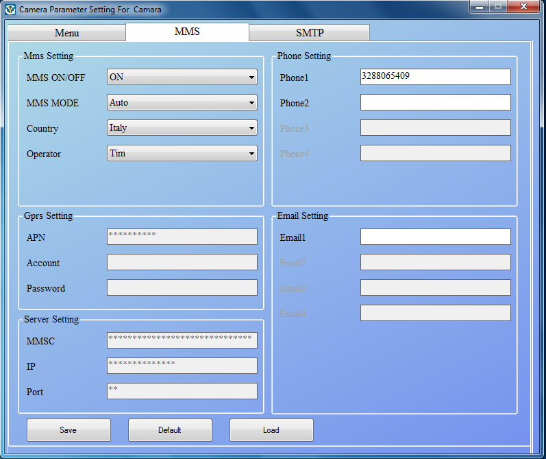 Invio Email e MMS Fototrappola LKM Security