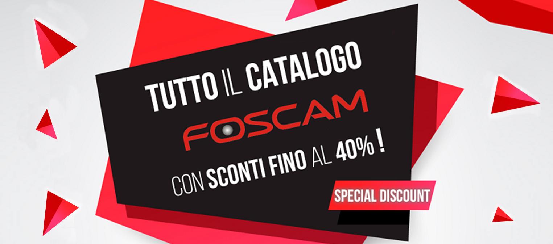 Foscam Special Discount SCONTI FINO AL 40% SU TUTTO IL CATALOGO FOSCAM. Spedizioni gratuite e in 24 ore