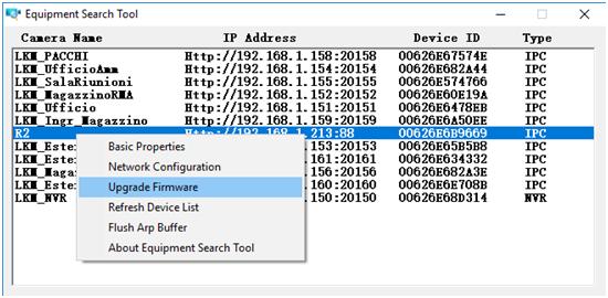 Aggiornamento Firmware: Scopriamo come effettuare aggiornare il firmware delle Telecamera IP Foscam direttamente dal software Equipment Search tool.